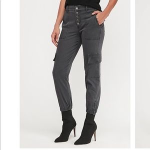 Express High Waisted Utility Ankle Joggers